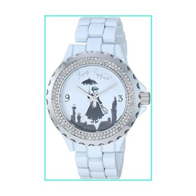 【新品】Disney Women's Mary Poppins Analog-Quartz Watch with Alloy Strap, White, 12.5 (Model: WDS000636)(並行輸入品)