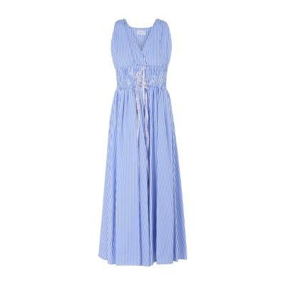GAëLLE Paris 7分丈ワンピース・ドレス アジュールブルー 40 コットン 100% 7分丈ワンピース・ドレス