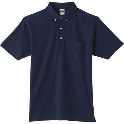 トムス TOMS 4.9オンス ボタンダウン ポロシャツ(ポケット付) SS - LL 00198A ネイビー