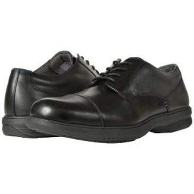 ノンブッシュ メンズ ドレスシューズ シューズ Melvin Street Cap Toe Oxford with KORE Slip Resistant Walking Comfort Technology Bla