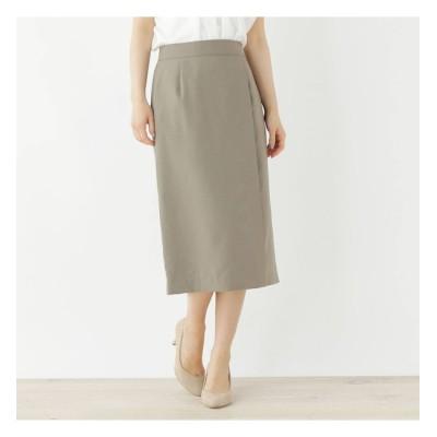 【オペークドットクリップ/OPAQUE.CLIP】 【洗える・34(SS)、42(LL)WEB限定サイズ】リネンテイストタイトスカート