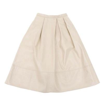 セルフォード CELFORD レザー ロング フレア スカート ピンク size38 A03917