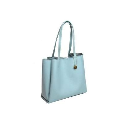 テディショップ teddyshop レディース A4対応シンプルあおりトートバッグ (ブルー)