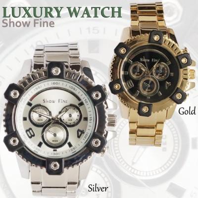 SHOWFINE男性用メンズ腕時計 フェリックス Mens ラグジュアリー クロノグラフメタルウォッチアナログ電池式クォーツアディダスG-SHOCK好きにも