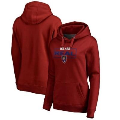 レディース スポーツリーグ サッカー Real Salt Lake Fanatics Branded Women's We Are Pullover Hoodie - Red トレーナー