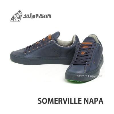 サトリサン サマービル ナパ SATORISAN SOMERVILLE NAPA スニーカー メンズ インソール ローカット レザー スペイン レトロ シューズ カラー:MOOD BLUE