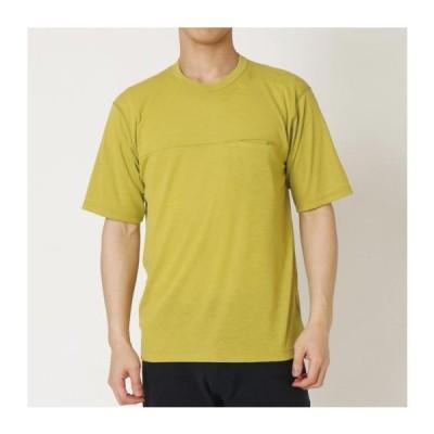 MIZUNO ミズノ ウールライトインナーポケットTシャツ メンズ オアシスグリーン アウトドア ウェアー 男性用 B2MA054237