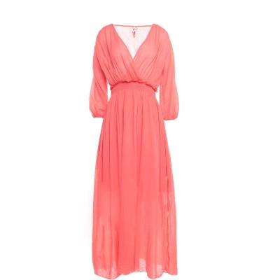 EUROPEAN CULTURE 7分丈ワンピース・ドレス コーラル S コットン 100% 7分丈ワンピース・ドレス