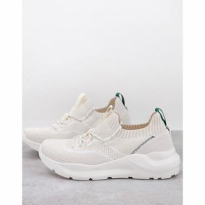ルールロンドン Rule London メンズ スニーカー シューズ・靴 Chunky Knitted Runner Trainers In Ecru Mix ホワイト
