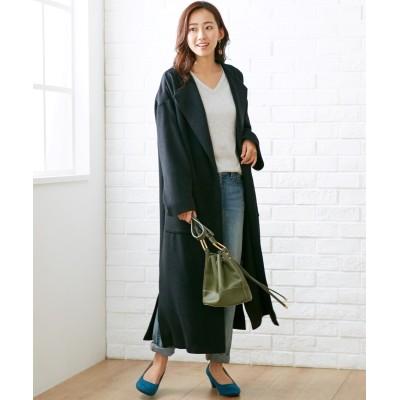 大きいサイズ 着流しノーカラーコート ,スマイルランド, コート, plus size coat