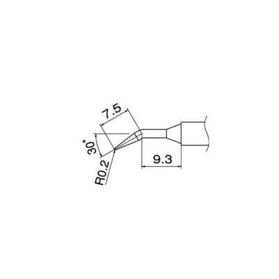 ds-1885103 白光 T12-JL02 こて先/0.2JL型 (ds1885103)