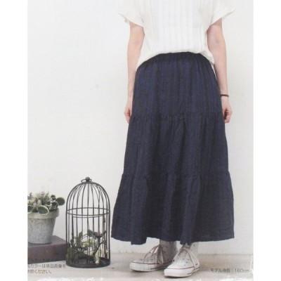 【sale セール】【60%OFF】Mashu Kashu(マシュカシュ)ティアードスカート(製品洗い)jpf-0419(メール便発送不可)【あす楽対応】
