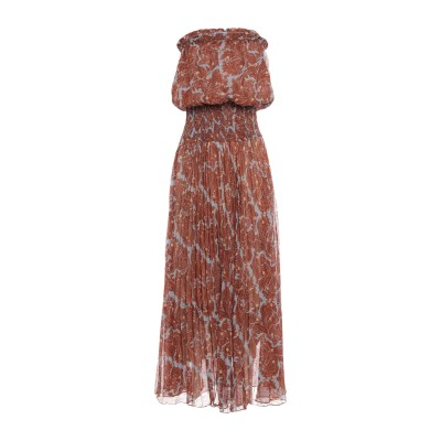 TRAFFIC PEOPLE ロングワンピース&ドレス ブラウン M ポリエステル 100% ロングワンピース&ドレス