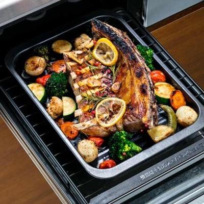 グリルトレー クッキングトレー ワイド フッ素加工 アルミ製 ( オーブントレー 魚焼きグリル 調理トレー 調理器具 調理道具 調理用品 キ