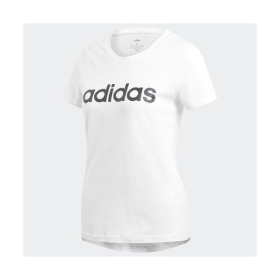 アディダス adidas W 半袖 リニア コットン Tシャツ レディース DU0629  セール アウトレット