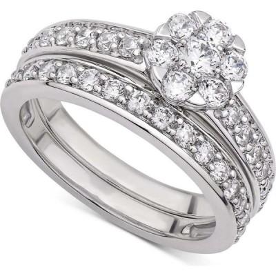 メイシーズ Macy's レディース 指輪・リング Certified Diamond (1-1/2 ct. t.w.) Cluster Bridal Set in 14K White or Yellow Gold White Gold