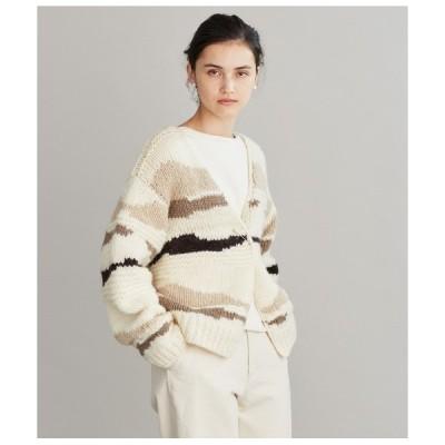 カーディガン Norwegian Dry Wool カモフラ柄手編みカーディガン