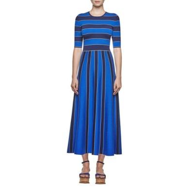 ガブリエラ ハースト レディース ワンピース トップス Capote Fit-and-Flare Knit Dress in Blue