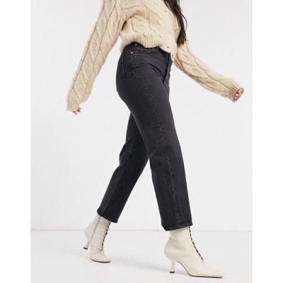 リーバイス レディース デニムパンツ ボトムス Levi's Ribcage straight leg ankle grazer jeans in black