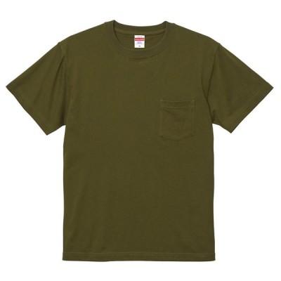 Tシャツ 半袖 メンズ ポケット付き ハイクオリティー 5.6oz S サイズ シティグリーン 無地 ユナイテッドアスレ CAB