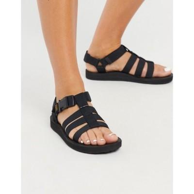 テバ レディース サンダル シューズ Teva Original Dorado sandals in black