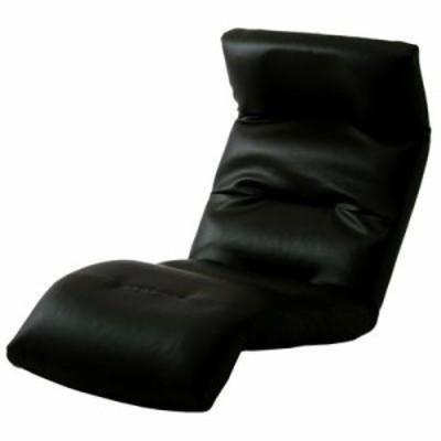 【納期目安:1週間】セルタン 【送料無料】10163-011 和楽の雲 日本製座椅子・2タイプ・リクライニング付きチェアー (上 PVC ブラック)