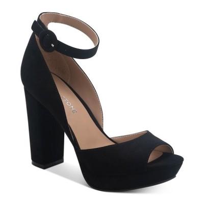 サンアンドプラスストーン サンダル シューズ レディース Reeta Block-Heel Platform Sandals,  Black Micro