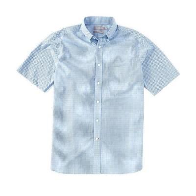 ダニエル クレミュ メンズ シャツ トップス Daniel Cremieux Signature Cotton Check Short-Sleeve Woven Shirt