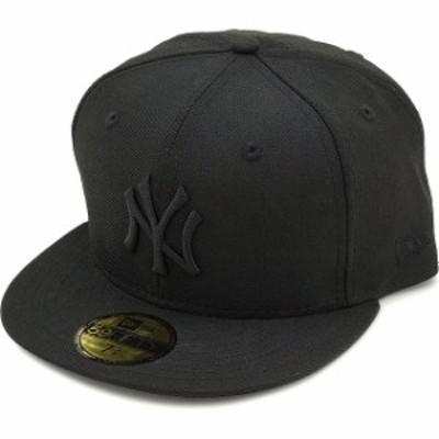 ニューエラ キャップ NEWERA CAP MLB カスタム 59FIFTY ニューヨーク・ヤンキース ブラック/ブラック [11308579/12336664]