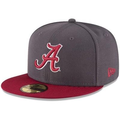 ユニセックス スポーツリーグ アメリカ大学スポーツ Alabama Crimson Tide New Era Basic 59FIFTY Fitted Hat - Graphite/Crimson