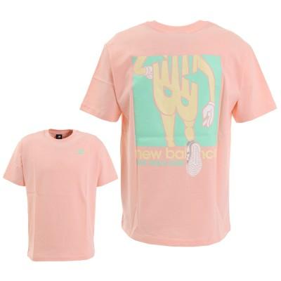 ニューバランスウェアTシャツ 半袖 アスレチックスランナーショートスリーブ MT01515PSA ピンク