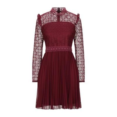 VANESSA SCOTT ミニワンピース&ドレス ボルドー L ポリエステル 100% ミニワンピース&ドレス