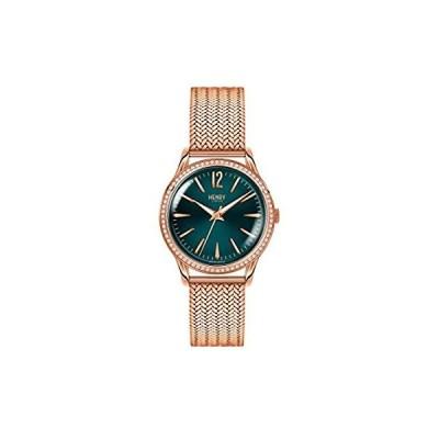 Henry London レディース ストラットフォード 腕時計 アナログ表示 ローズゴールドメッシュブレスレット HL34-SM-0204