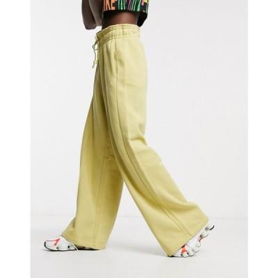 ナイキ Nike レディース ジョガーパンツ ワイドパンツ ボトムス・パンツ mini swoosh high waisted wide leg joggers in olive green グリーン