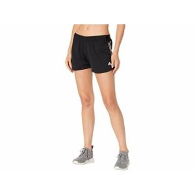 (取寄)アディダス レディース ニット 3ストライプ スポーツ ショーツ adidas Women's Knit 3-Stripes Sport Shorts Black/White