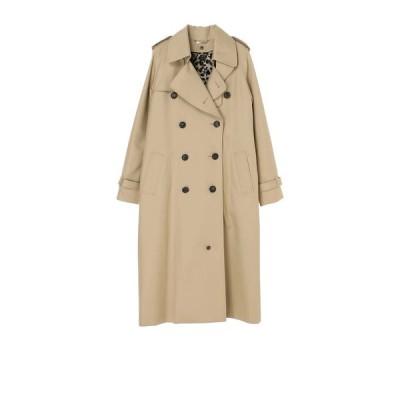beautiful people / ultimate pima twill maxilong trench coat