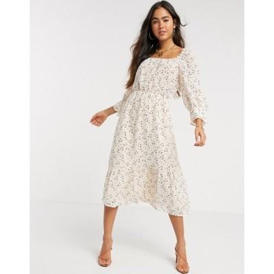ワイエーエス レディース ワンピース トップス Y.A.S Fausta three quarter sleeve midi dress