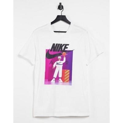 ナイキ メンズ シャツ トップス Nike Airman DJ t-shirt in white