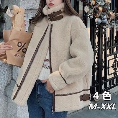 秋冬 ボア コート アウター フードブルゾン フライト ボアジャケット/ ファッション/レディース/