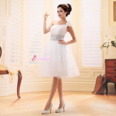 ミニドレス、ショートドレス、ウェディングドレス ミニ、結婚式、二次会ドレス、花嫁ドレス、パーティー  ブライズメイド