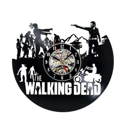 掛け時計  The Walking Dead Vinyl Wall Clock Record Gift Decor Sign Feast Day Art Woman