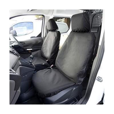 UK Custom Covers SC426B Tailored Heavy Duty Waterproof Front Seat Covers (Single/Single) - Black