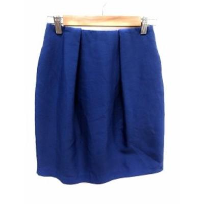 【中古】ボールジー BALLSEY トゥモローランド スカート フレア ミニ 34 青 ブルー /MS レディース