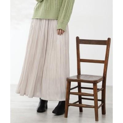 スカート ブライトワッシャーマキシスカート