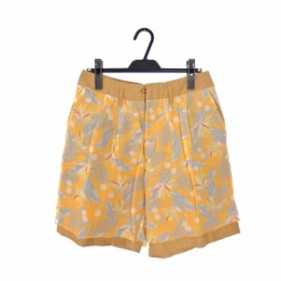 【中古】カラー kolor 14SS ボタニカル柄 ショートパンツ ショーツ ボトムス 1 オレンジ 橙 14SCM-P01101 春夏 メンズ