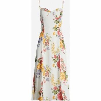リフォーメーション REFORMATION レディース ワンピース ミドル丈 ワンピース・ドレス Juliette floral-print crepe midi dress Bouquet