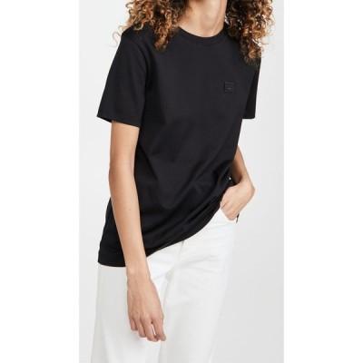 アクネ ストゥディオズ Acne Studios レディース Tシャツ トップス Ellison Face Short Sleeve Shirt Black