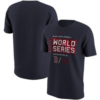 MLB レッドソックス Tシャツ 2018 ワールドシリーズ進出記念 コットン ナイキ/Nike ネイビー 1911セール【OCSL】 1009IK