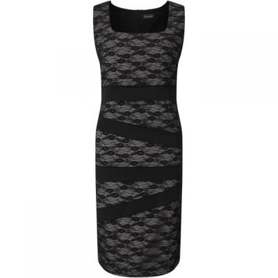 ジュームズ レイクランド James Lakeland レディース ワンピース ノースリーブ ワンピース・ドレス Sleeveless Lace Band Dress Black