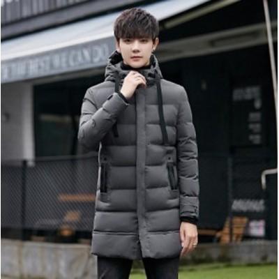 ロングコート ビジネスジャケット 中綿コート メンズ ダウンジャケット ダウンコート フード付き 保温 防寒 通学 暖かい アウター